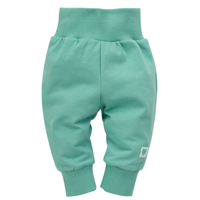 "Pantalon vara ""leggings"", bumbac 100%, unisex, Verde, Spring Light 0"