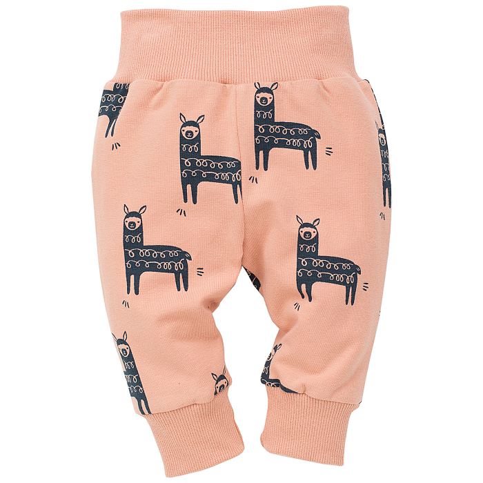 "Pantaloni ""Leggings"" bumbac100%_Happy Llama 0"