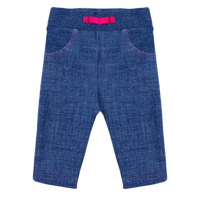 "Pantalon lung tip ""leggings"", bumbac 100%_fete_Albastru_PEONY [0]"