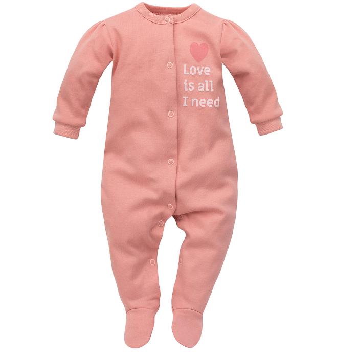 Pijama intreaga cu talpa, bumbac 100%_fete_Roz_Spring Light 0