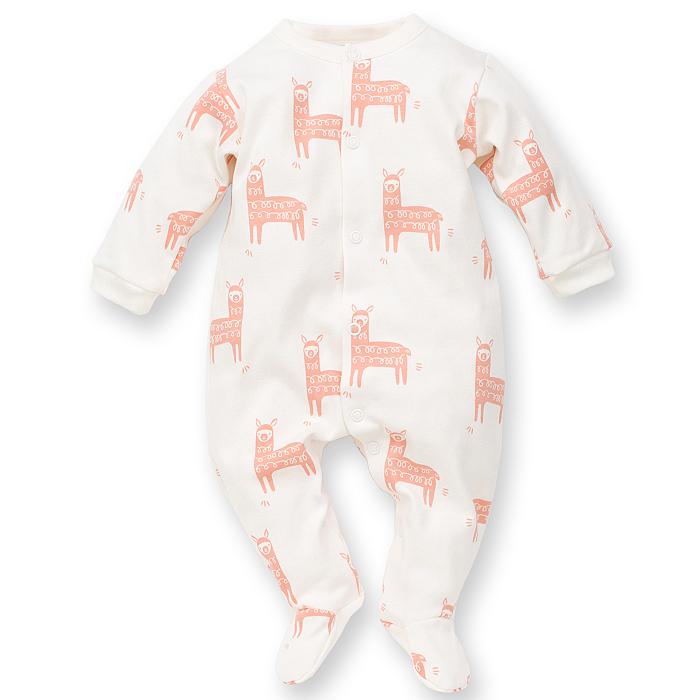 Pijama tip salopeta intreaga cu talpa bumbac 100%_ Happy Llama 0