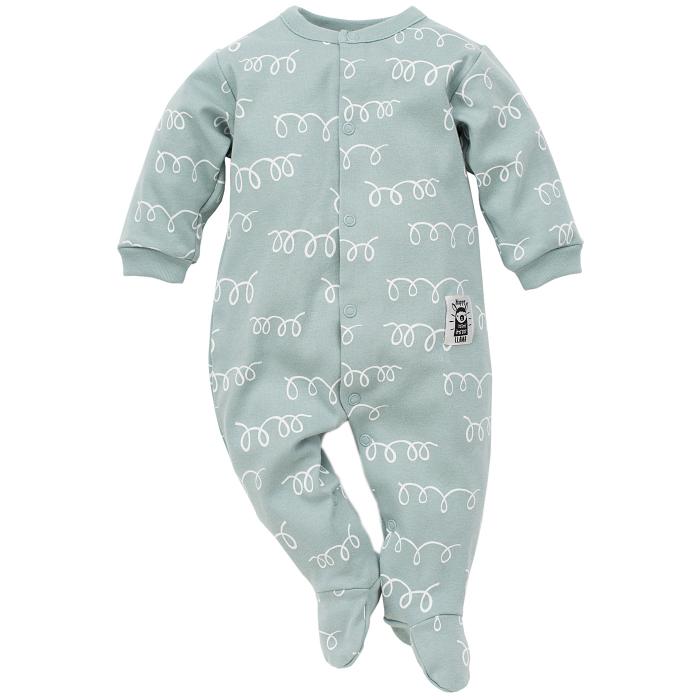 Pijama tip salopeta intreaga cu talpa bumbac 100%, Happy Llama 0