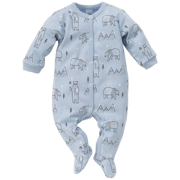 Pijama tip salopeta intreaga cu talpa bumbac 100%_North_blue 0