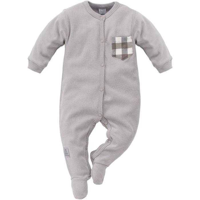 Pijama tip salopeta intreaga cu talpa bumbac 100%_ North_gri 0