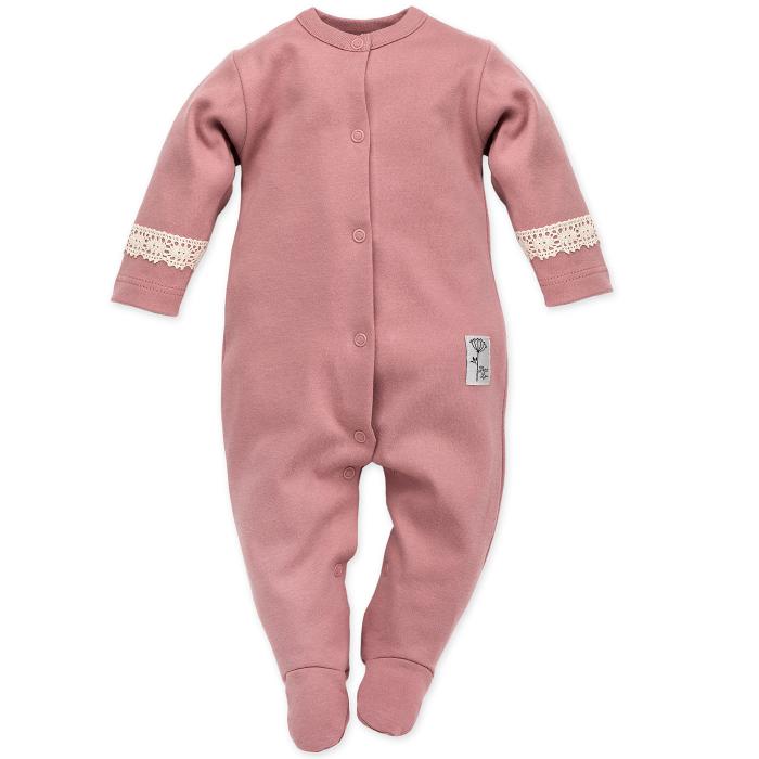 Pijama tip salopeta intreaga cu talpa bumbac 100%_Petit Lou 0