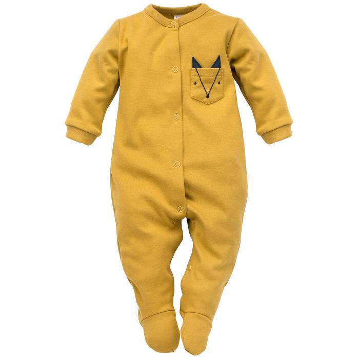 Pijama tip salopeta intreaga cu talpa bumbac 100%_ Secret Forest 0