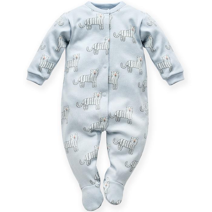 Pijama tip salopeta intreaga cu talpa bumbac 100%_Wild animals 0