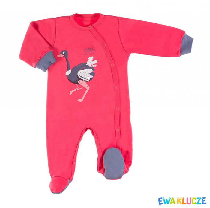 Pijama tip salopeta intreaga cu talpa bumbac 100%_Emu 0