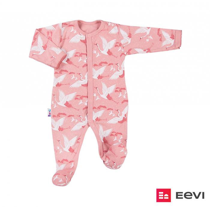 Pijama tip salopeta intreaga cu talpa bumbac 100%_roz_Sky 0