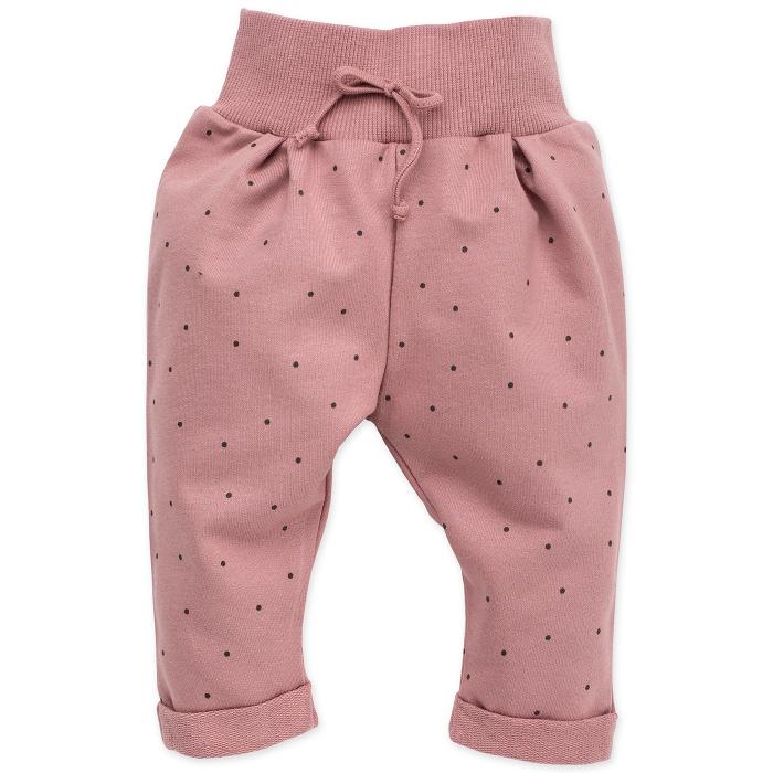 Pantalon trening_Roz cu buline_Petit Lou 0
