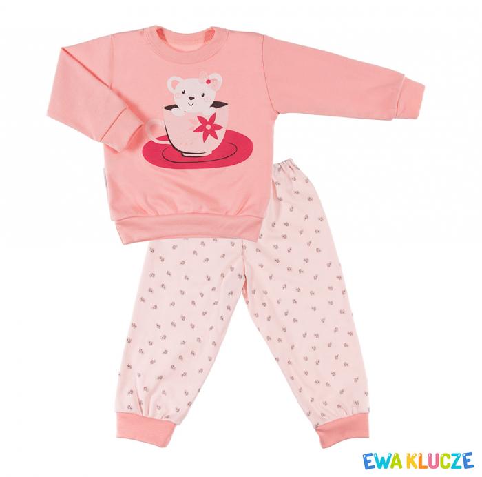 Pijama 2 piese, pantalon si bluza maneca lunga, Coral [0]