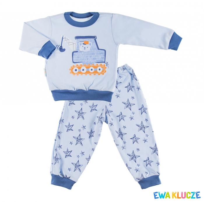 Pijama 2 piese_Pantalon si bluza cu maneca lunga_Albastru_Dobranoc granat 0