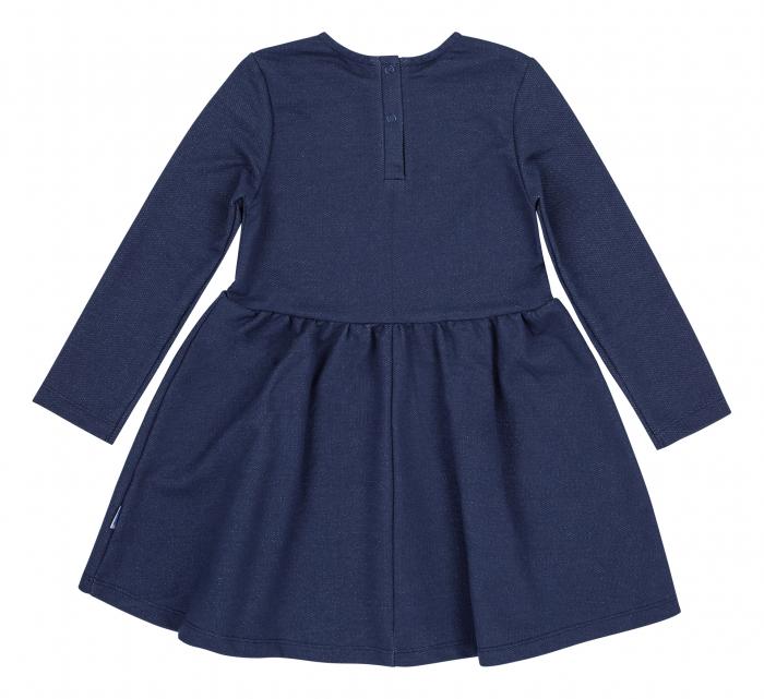 Rochie cu maneca lunga, fete, Albastru/Flori 1