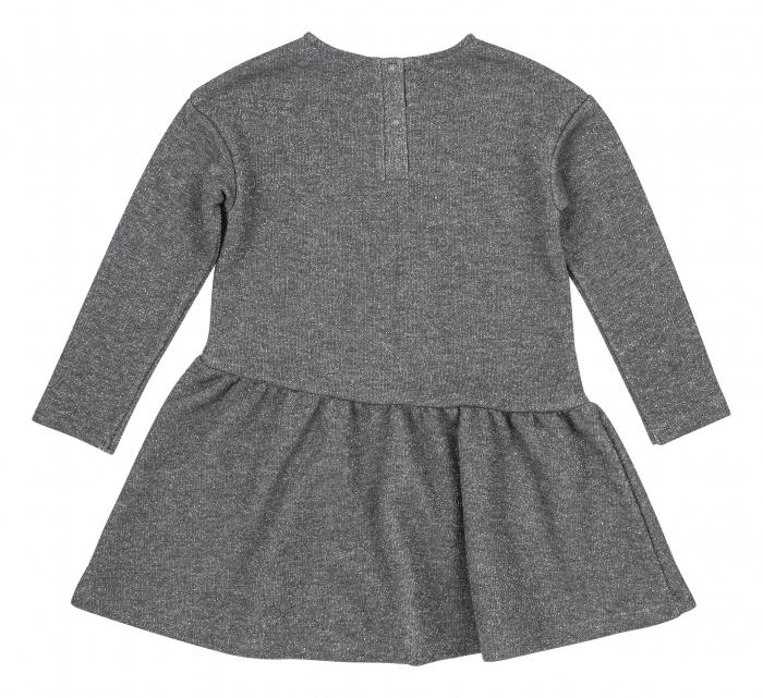 Rochie cu maneca lunga, fete, Gri/Lama 1