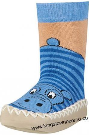 Sosete cu talpa antiderapanta, Hippo, Albastru 0
