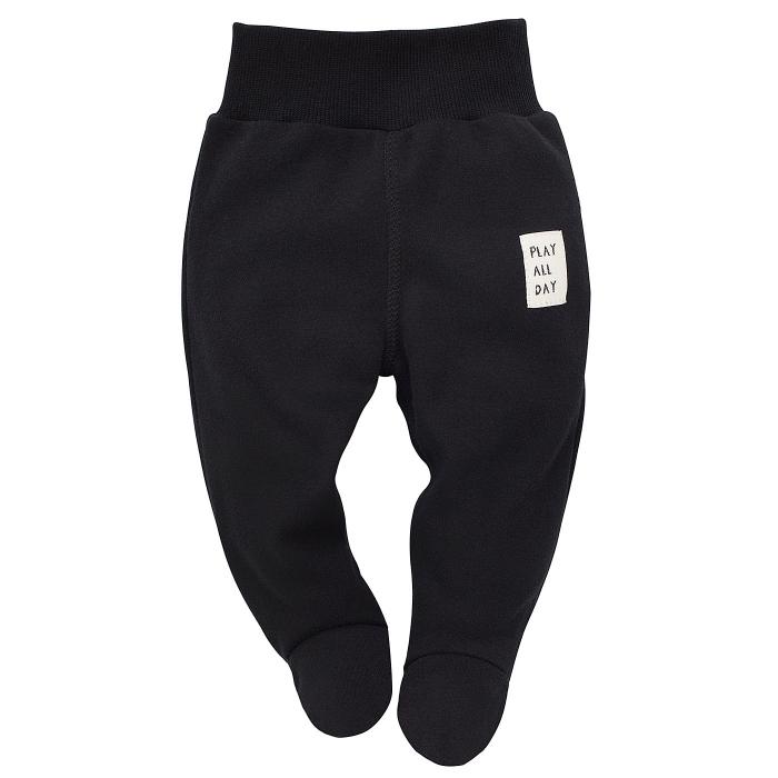 Pantalon tip pijama, bumbac 100%, negru, baieti, BEARS 0