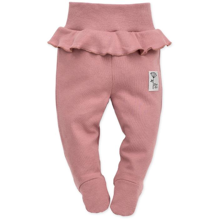 Pantalon pijama cu talpa bumbac 100%_Petit Lou 0