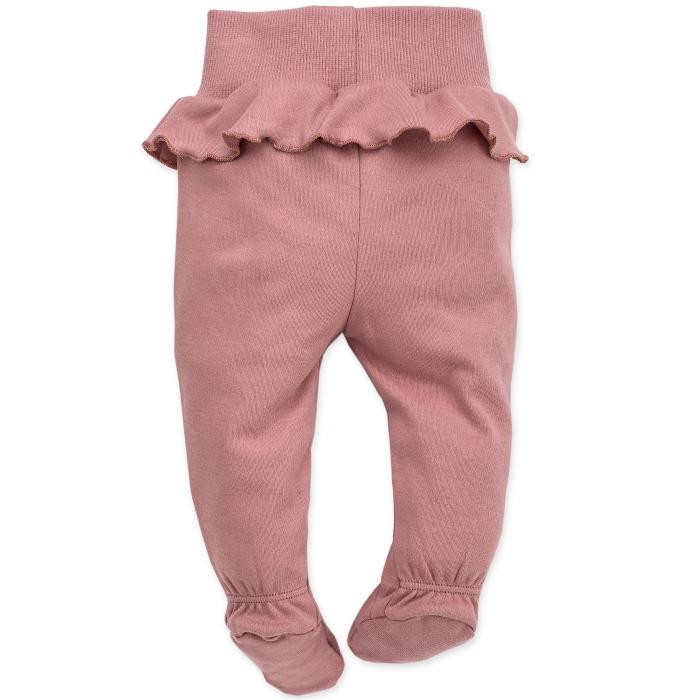 Pantalon pijama cu talpa bumbac 100%_Petit Lou 1