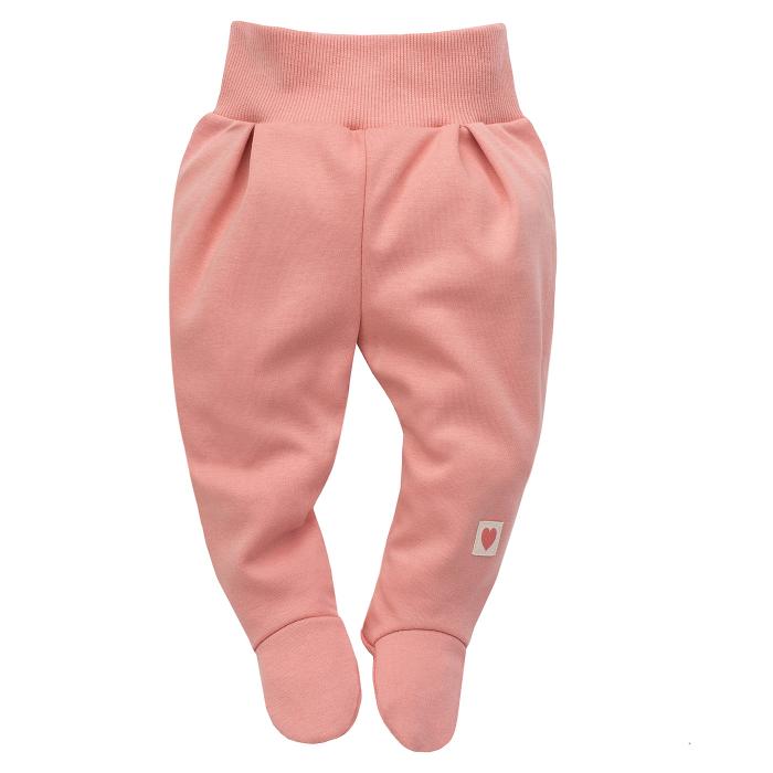 Pantalon tip pijama cu talpa, bumbac 100%_fete_Roz_Spring Light 0