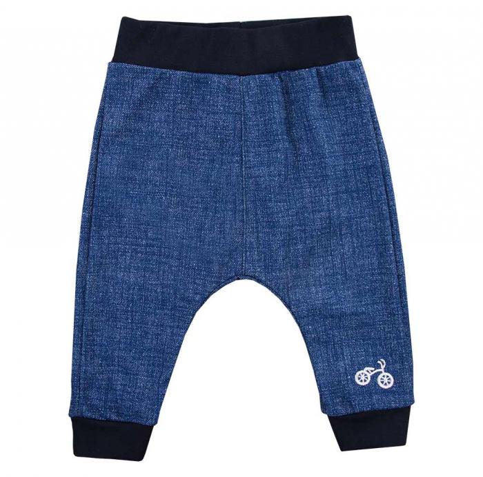 "Pantalon tip ""leggings"", bumbac 100%_baieti_Albastru/Blugi_BIKE 0"