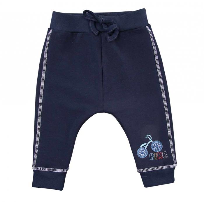Pantalon trening, vara, bumbac 100%_baieti_Albastru inchis_BIKE 0