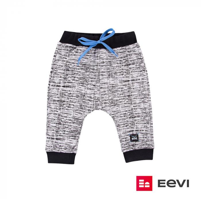 Pantalon trening, Gri/Negru, Young Hero 2