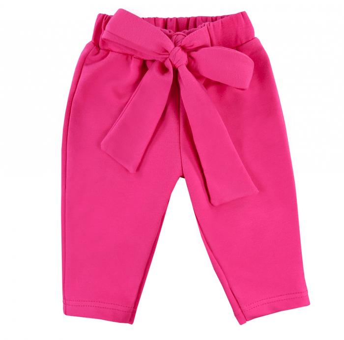 Pantalon lung vara cu funda, bumbac 100%_fete_Roz ticlam_PEONY [0]