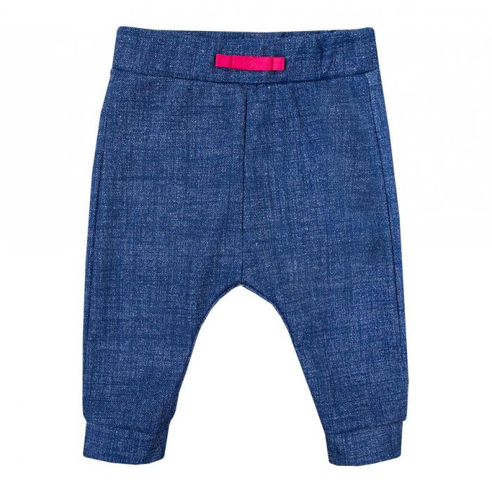 Pantalon lung vara, tip trening, bumbac 100%_fete_Albastru_PEONY [0]