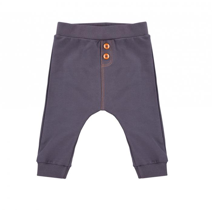 Pantalon trening, bumbac 100%_Gri_Trip 0