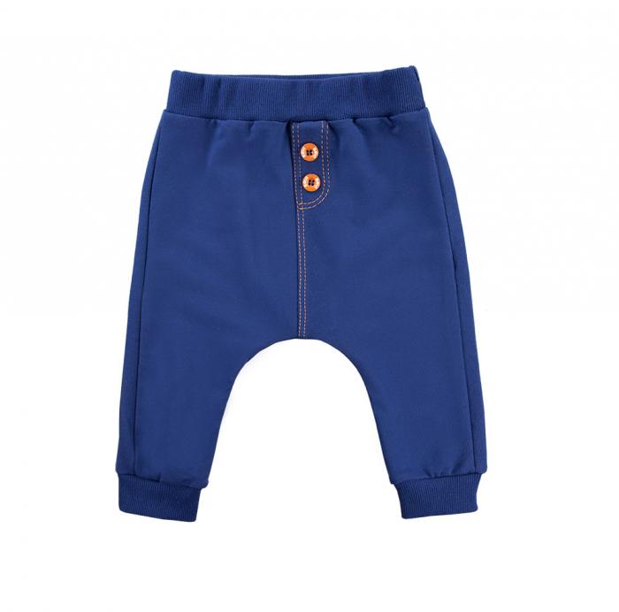 Pantalon trening, bumbac 100%_Albastru_Trip 0
