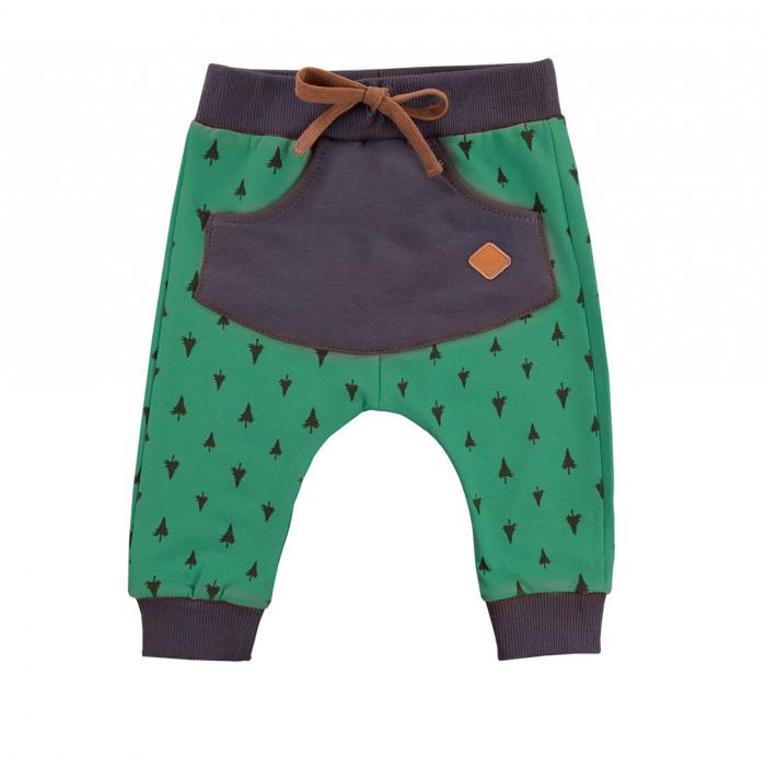 Pantalon trening cu buzunar fata, Verde/Gri, Trip [0]