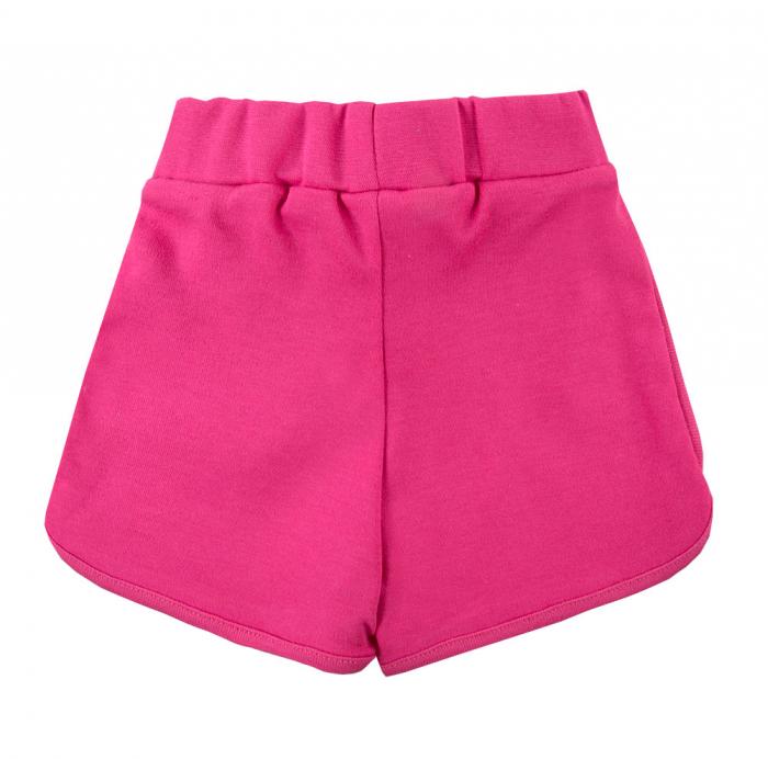 Pantalon scurt cu funda, bumbac 100%_fete_Roz ticlam_PEONY 1