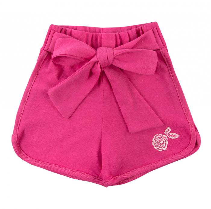 Pantalon scurt cu funda, bumbac 100%_fete_Roz ticlam_PEONY 0