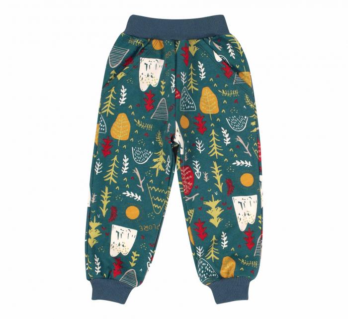 Pantalon trening cu buzunare, baieti, Verde, Forest 0