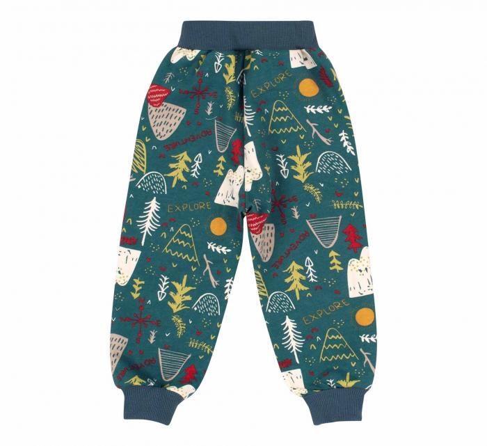 Pantalon trening cu buzunare, baieti, Verde, Forest 1
