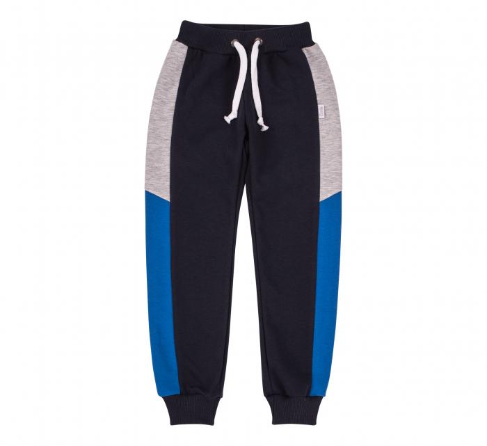 Pantalon lung trening, baieti, Gri petrol/Albastru gri 0