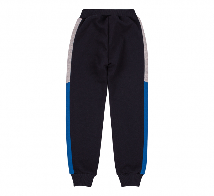 Pantalon lung trening, baieti, Gri petrol/Albastru gri 1