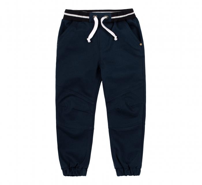 Pantalon lung tip blugi, bumbac 100%, baieti, Albastru inchis 0