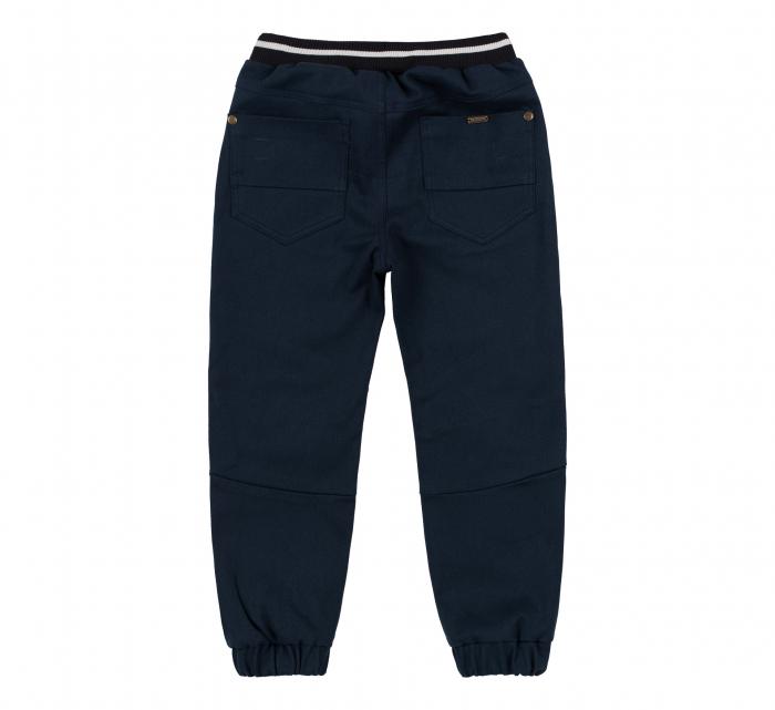 Pantalon lung tip blugi, bumbac 100%, baieti, Albastru inchis 1