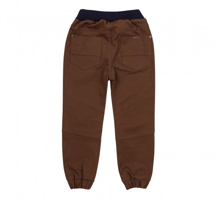 Pantalon lung tip blugi, bumbac 100%, baieti, Maro 1