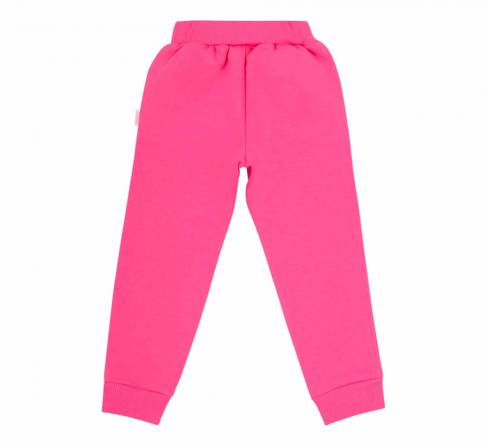 Pantalon trening cu buzunare, fete, Roz 1