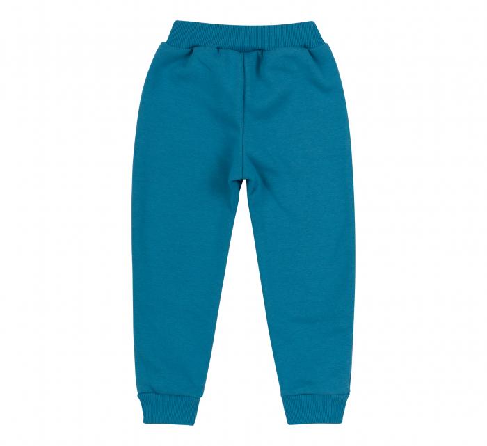 Pantalon lung cu buzunare, fete, Turcoaz/Iepuras [1]