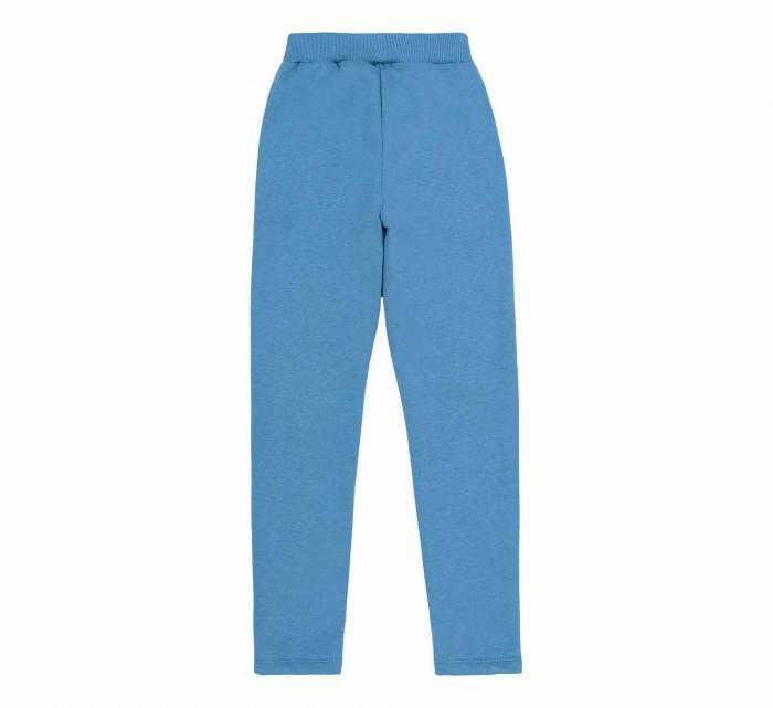 Pantalon trening cu buzunare, fete, Albastru/Lama 1