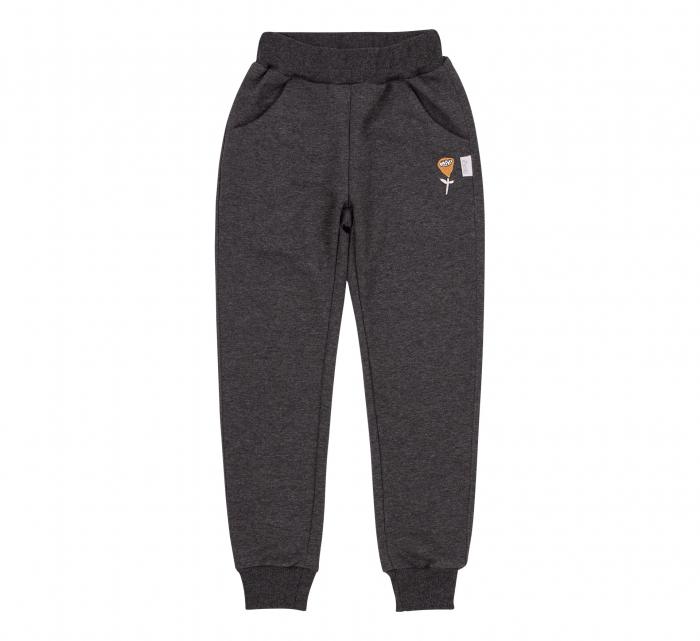 Pantalon lung trening cu buzunare, fete, Gri inchis 0