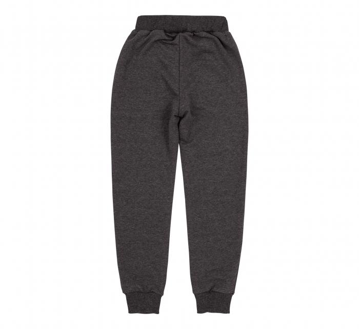 Pantalon lung trening cu buzunare, fete, Gri inchis 1
