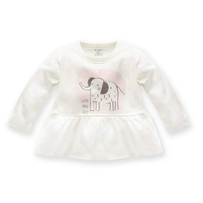 Bluza cu maneca lunga, bumbac 100%, Alb/ Wild Animals [0]