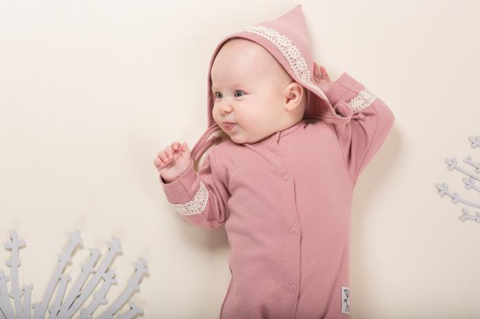 Pijama tip salopeta intreaga cu talpa bumbac 100%_Petit Lou 2