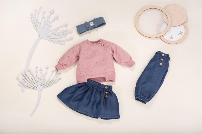 Pantalon lung, vara, jeans, Petit Lou [3]