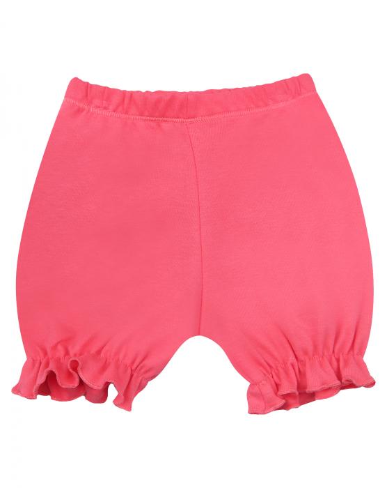 Pantalon scurt, bumbac organic 100%, fete, Roz/Fructe [0]