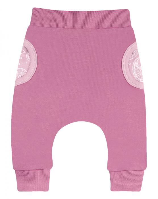 Pantalon lung, trening cu buzunare, fete, Roz 0